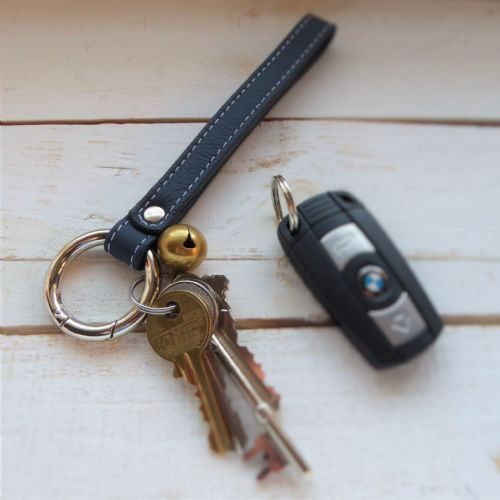 Luxury Leather Wrist Band Carabina Key Ring
